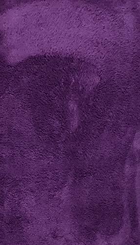 Alfombra de Salón | Alfombra Dormitorio Despacho Pelo Largo Suave y Moderna Color (Violeta, 140_x_200_cm)