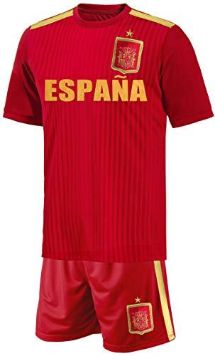 Spanien Baby Trikot Set Fußball Fan Zweiteiler Rot Größe 86-92