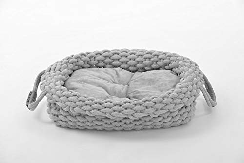 animal-design Hundebett Knit Hundekorb Hundekissen robust aus Baumwollstoff geflochten, verschieden Größen, Größe:Größe 1