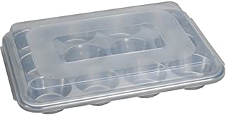 Nordic Ware Natural Aluminum Commercial Muffin Pan with Lid, 12 Cup