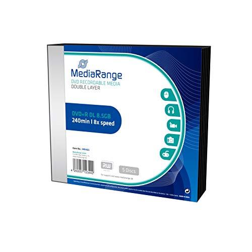 MediaRange Dvd+r 8.5GB - Confezione da 5