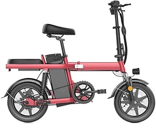 Bicicleta eléctrica de nieve, Bicicletas rápidas y Eléctrica en adultos Mini Bike scooter pequeño Mate, batería de litio de hombres y mujeres adultos ultra ligero y conveniente E-bici, kilometraje Con