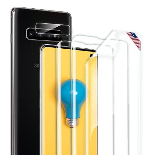 BESTSUIT (3+1) Schutzfolie Kompatibel Mit Samsung Galaxy S10[3 Stück] +Kamera Panzerglas [1 Stück], Samsung Galaxy S10 Folie Blasenfrei, Hohe Empfindlichkeit, HD-Bildschirmschutzfolie für Galaxy S10