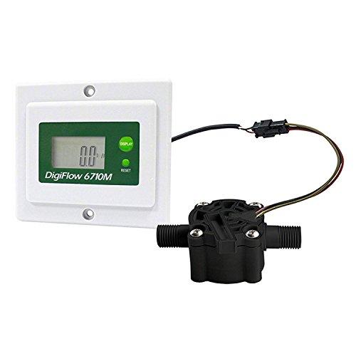VYAIR DigiFlow 6710M-TM Mini compteur de débit numérique monté sur panneau 0,8 à 8,0 litres/minute pour osmose inverse commerciale et industrielle avec connexions NPT 6,35 mm