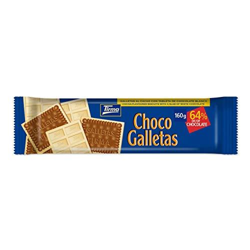 Tirma Chocogalletas Blanco, Chocolate, 160 Gramos