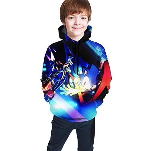 maichengxuan Children's Hoodies Son-IC The Hedg-Ehog 3D Print Pullover Hooded Sweatshirt for Girls/Boys/Kid's/Youth