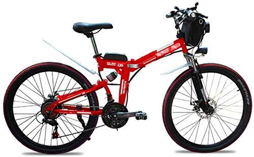 Bicicletas Eléctricas, 48V 500W Montaña 26 Bicicleta eléctrica Bicicleta Plegable Pulgadas, Plegable Bicicletas Altura Ajustable portátil con luz LED Frontal, 4,0 Pulgadas de Bicicletas Mujeres Fat