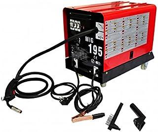 Helloshop26 3402130 Poste à Souder MIG-MAG Inverseur 195 A Outils Garage Atelier Bricolage, Rouge