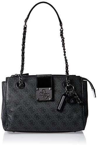 Guess Logo City Small Society Satchel Coal
