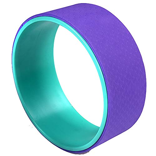YzDnF Inicio Yoga Rueda Backbend Pilates Circle Dharma Prop Sheet Yoga SIDA para Principiantes Estirando y mejorando backbends (Color : Blue Purple, Size : 14x33cm)