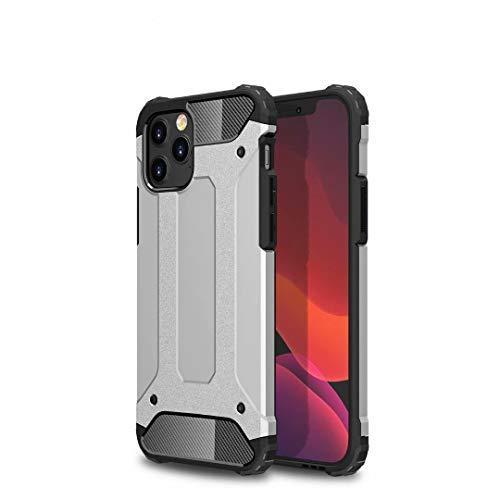TiHen Hülle für Xiaomi Mi 5C Hülle, Premium [Armor Serie] Outdoor Stoßfest Handyhülle Xiaomi Mi 5C, 360 Grad Full Cover Hülle Xiaomi Mi 5C Doppelschichter Schutz Hülle + Panzerglas 2 Stück - Silber