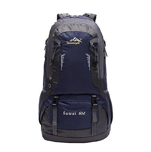 BCX - Zaini impermeabili Sport ricreativi all'aperto per uomini e donne Borse a tracolla Travel on Foot Zaino per notebook 60L,profondo blu
