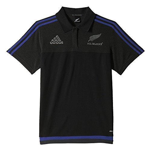 adidas Herren Poloshirt All Blacks Anthem Polo, Schwarz/Grau, XS