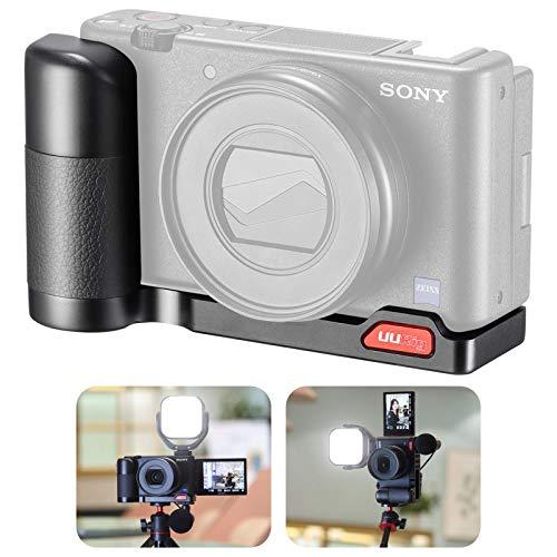 UURig Handgriff fur Sony ZV 1 Schnellwechselplatte L Halterung Metallhalterung mit Kaltschuh Unterstutzung fur horizontale und vertikale Aufnahmen