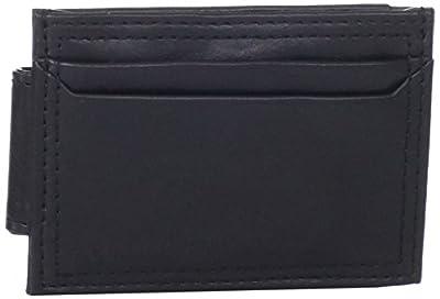 Dockers Men's Slim Money Clip Wallet,Black Plaque