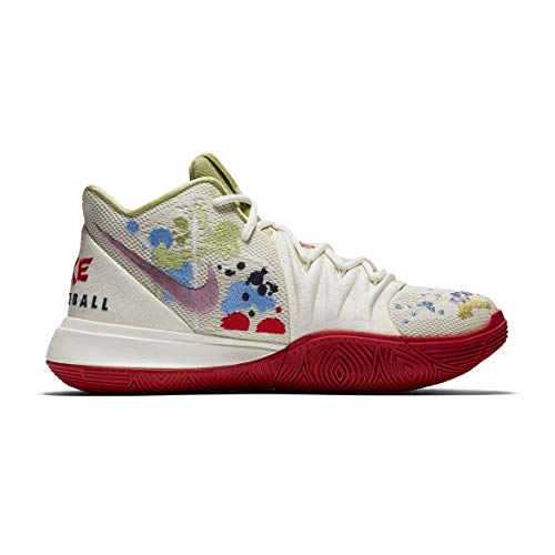 Price comparison product image Nike Boys' Little Kids Kyrie 5 X BANDULU Basketball Shoes (3,  Pale Ivory / Dark Orchid)