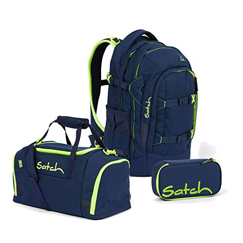 Satch Pack BTS2020 Schulrucksack Set 3tlg. (Rucksack+Etui+Sporttasche) (Toxic Yellow)
