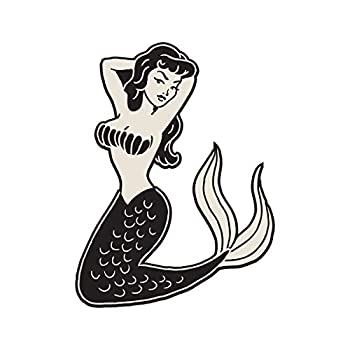 Milk Mug Designs Sexy Retro Mermaid Pin Up Girl 8 inch Full Color Vinyl Decal