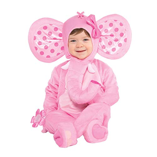 amscan Baby Pink Elephant Costume - 12-24 Months