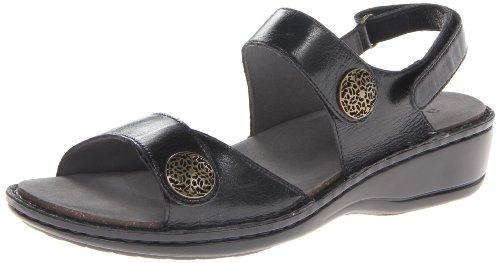 Aravon Women's Candace Dress Sandal,Black,8 B US