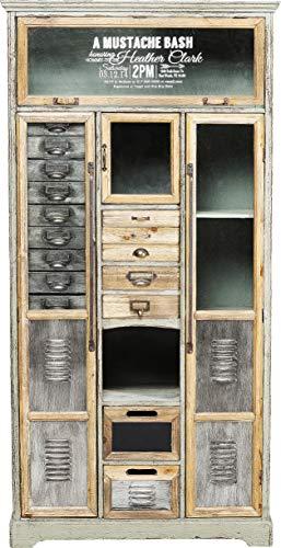 Kare Design Schrank Barber Shop, Schrank mit Schubladen und Türen, Friseurbedarf, Hochkommode Retro, (H/B/T) 161x81x32cm