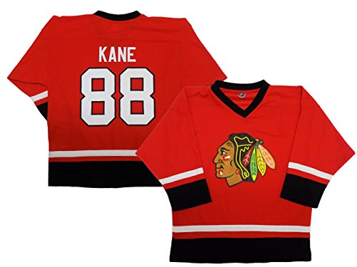 Patrick Kanes Chicago Blackhawks Blank Red Youth Home Fashion Jersey (X-Small 4/5)