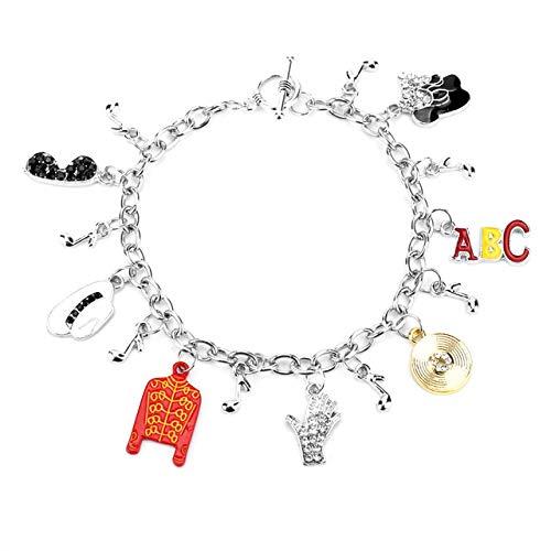 Joulee New Arrivals Bracelets for Women Charm Jewely Michael Jackson Bracelet Bangle Music Fans Gift - (Metal Color: C)