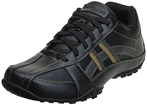 Skechers USA Men's Citywalk Malton Oxford Sneaker,Black,12 M US