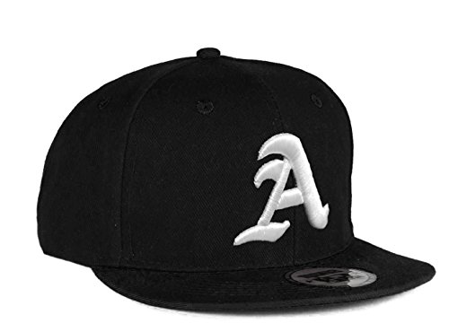 4sold Snapback Hat with Raised 3D Embroidery Letter Baseball Cap Hip-Hop Cap Hat Headwear (One Size, A)