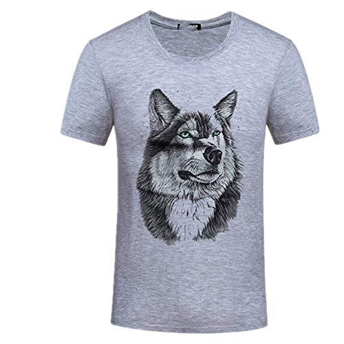 Una Pieza De Verano De Los Hombres Camisetas Camiseta De Algodón Casual De Los Hombres De La Camiseta De Manga Corta De La Camiseta Para Los Hombres De Lobo De Los Hombres