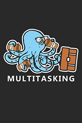 Multitasking: Büroangestellter Job-Kaffee  Notizbuch liniert DIN A5 - 120 Seiten für Notizen, Zeichnungen, Formeln | Organizer Schreibheft Planer Tagebuch