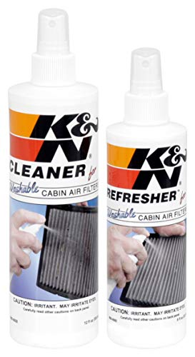 K&N Cabin Air Filter Cleaning Kit: Spray Bottle Filter Cleaner and Refresher Kit; Restores Cabin Air Filter Performance…