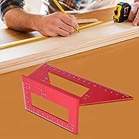 45/90度アングルゲージ、クリアリーディングアルミニウム合金読みやすいスクエアアングル定規、木工ツールカーペンターゲージに実用的