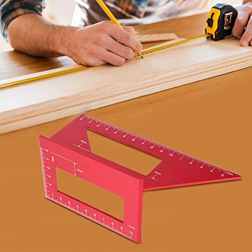 01 Regla de ángulo Cuadrado de aleación de Aluminio, Calibre de ángulo de 45/90 Grados, para Herramienta de carpintería de Calibre de Carpintero