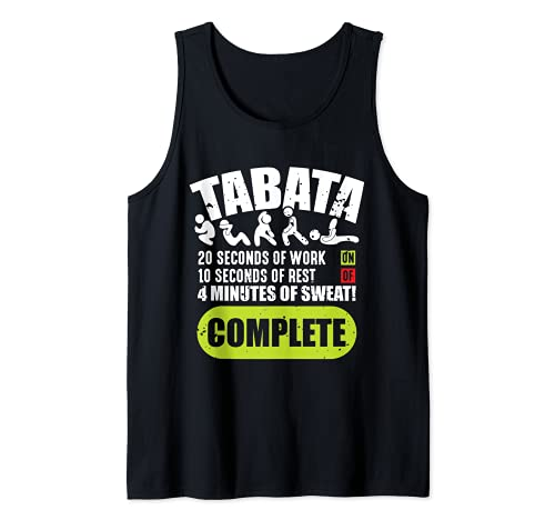 Tabata Entrenamiento Fitness Cardio Sport Broma Camiseta sin Mangas