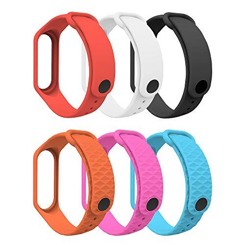 MoKo Armband Kompatibel mit Xiaomi Mi Band 3/Mi Band 4, Weich TPU Ersatzband Uhrenarmband Sport Ersatz Fitness Armbänder Wristband für Xiaomi Mi Band 3/Mi Band 4 - Mehrfarbig B