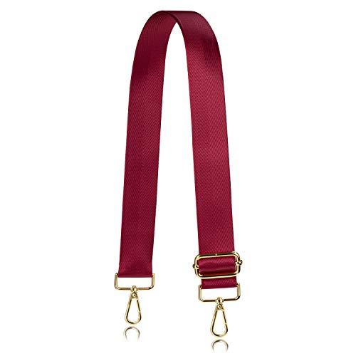 Allzedream Wide Purse Strap Replacement Crossbody Shoulder Bag Adjustable (Red)