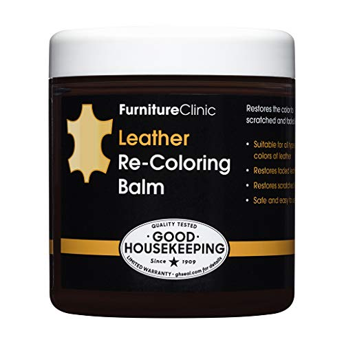 Furniture Clinic Leather Recoloring Balm (8.5 fl oz) - Leather Color Restorer for Furniture, Repair Leather Color on Faded & Scratched Leather Couches - 16 Colors of Leather Repair Cream (Cream)