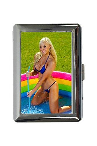 Zigarettenetui Box Sexy Fun Blondine Pool Bedruckt