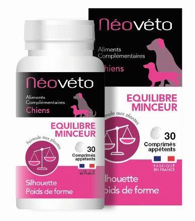 Néovéto Minceur comprimés naturels pour Chien à Base d'Actifs agréés par Les Services vétérinaires français, fabriqué en France, Slimming Dog, Dog Weight Loss