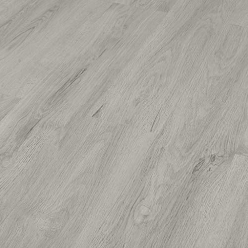 vidaXL Laminat Dielen Fußboden Vinylboden Vinyl Boden Planken Bodenbelag Designboden PVC Selbstklebend 4,46 m² 3mm Hellgrau Rutschfest Wasserfest