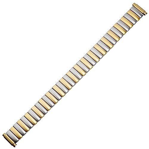MARBURGER Uhrenarmband 10mm Edelstahl Gold Silber - 83306440020