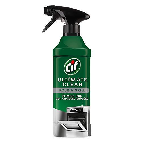 CIF Spray Nettoyant Cuisine Four et Grill, Elimine 100% des Graisses Brûlées 435ml