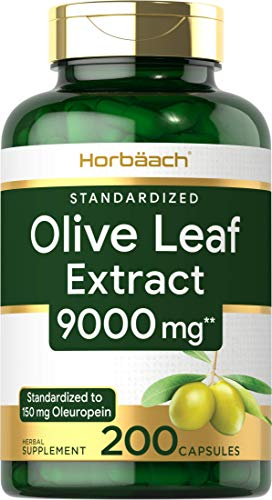 Olive Leaf Extract Capsules 9000mg | 200 Count | Super...