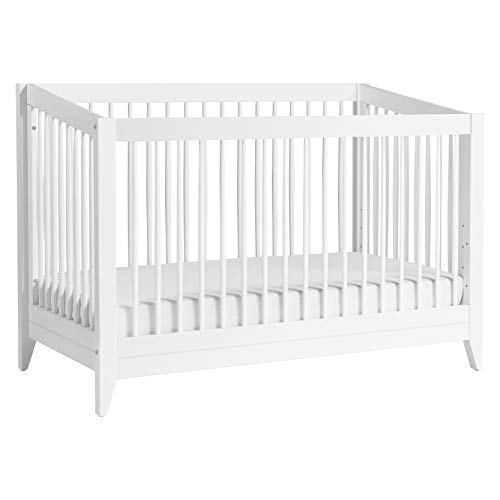 Babyletto Sprout 4-in-1 Convertible Crib with Toddler Bed Conversion Kit in White, Greenguard Gold Certified