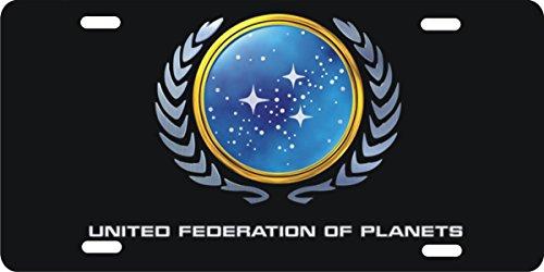 ATD Design LLC Novelty License Plate Star Trek United Federation of Planets