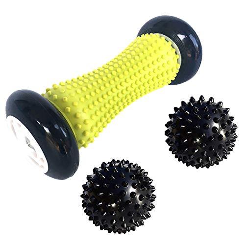 3pcs spiky foot roller massage