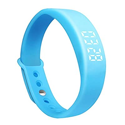 Addpoweradd Multifunctional 3D LED USB Sports Fitness Tracker Smart Wristband Watch Pedometer with Notice Sleep Monitoring, Morning Call Vibration, Temperature Digital, Time Display