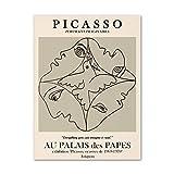 Picasso Poster Abstrakte Frau Gesicht Frieden Taube Wand