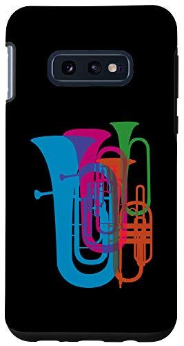 Galaxy S10e Colorful Tuba Brass Instrument Gift for Musician Case